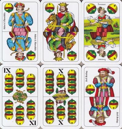 Doppeldeutsche Spielkarten
